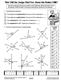 Printables Complementary Supplementary Angles Worksheet and supplementary angle worksheet davezan complementary davezan